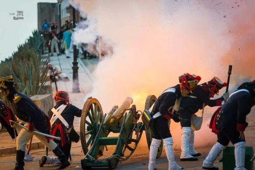 Recreacion_Historica_Sitio_Tarifa_cañon_1812_franceses