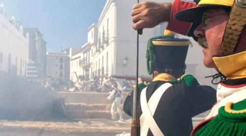 Recreacion_Historica_sitio_Tarifa_voltigeurs_napoleonicos_1812