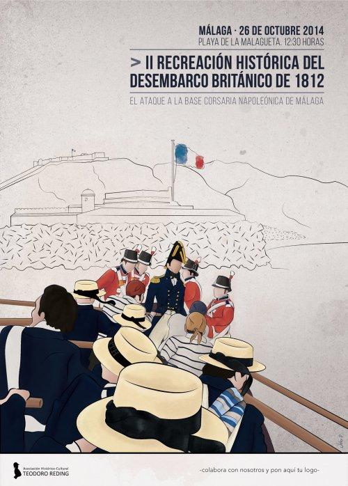Cartel_Recreacion_Historica_Desembarco_britanico_Royal_Navy_Puerto_Malaga_base_corsaria_napoleonica_1812_2014