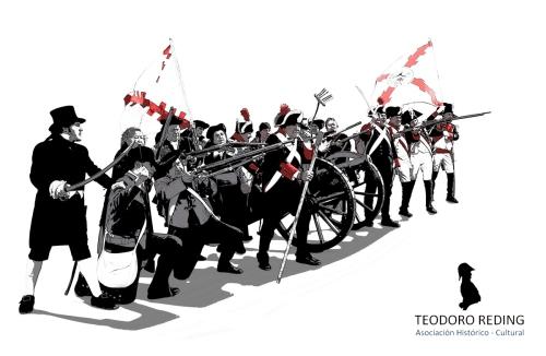 Malaga-frente-tropas-Napoleon-Asociacion-Teodoro-Reding